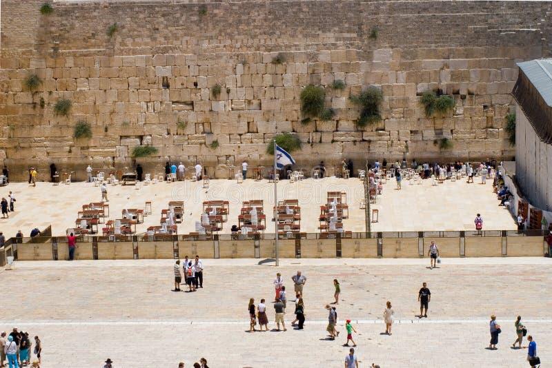 стена взгляда Израиля Иерусалима западная стоковые изображения rf
