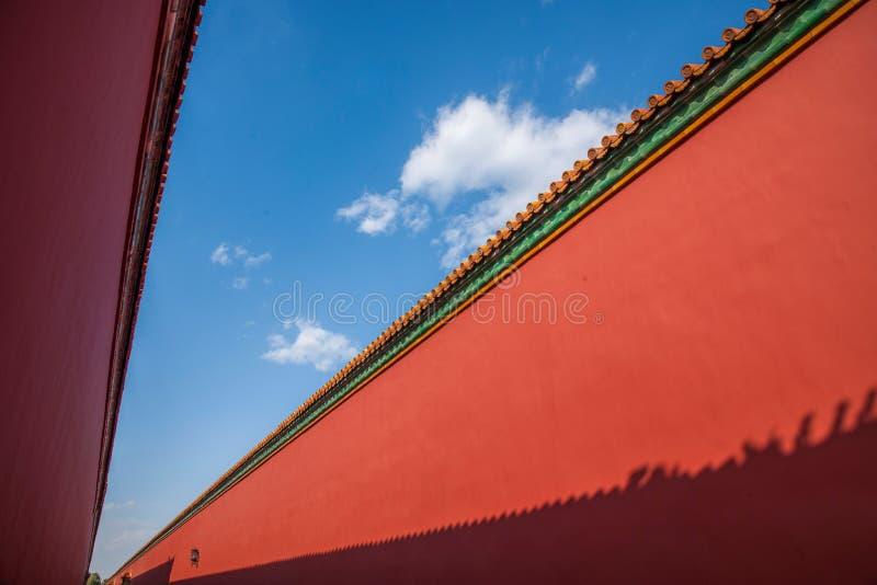 Download Стена дворца музея дворца Пекина Стоковое Изображение - изображение насчитывающей классическо, роскошь: 81806731