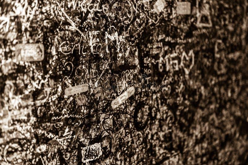Стена вполне сообщений, Вероны, Италии стоковая фотография