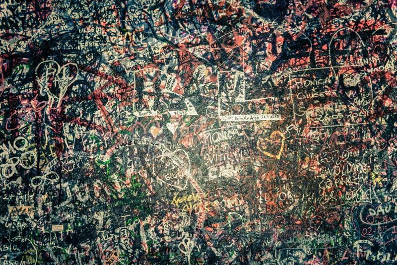 Стена вполне сообщений, Вероны, Италии стоковая фотография rf