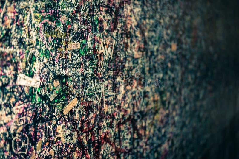 Стена вполне сообщений, Вероны, Италии стоковые фотографии rf