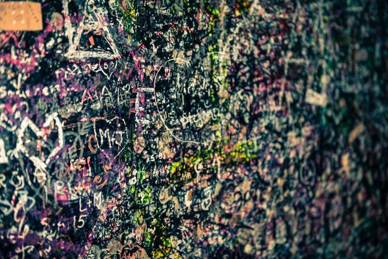 Стена вполне сообщений, Вероны, Италии стоковое изображение rf