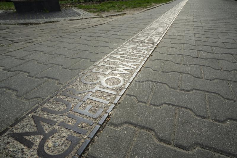 Стена гетто Варшавы стоковое фото rf