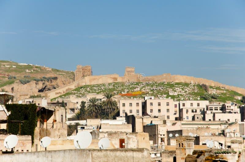 Стена города Fez стоковые изображения rf