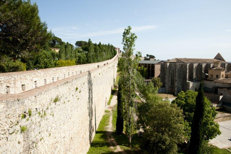 Стена города - Херона - Испания стоковое изображение