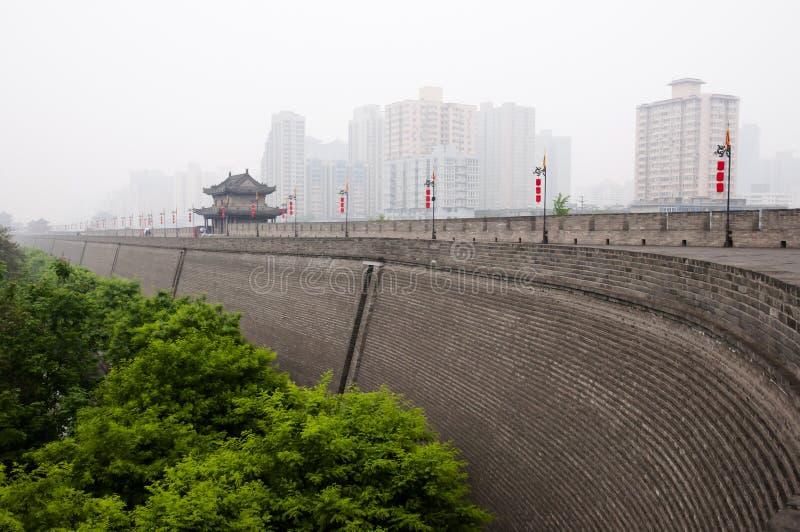 Стена города - Xian - Китай стоковая фотография
