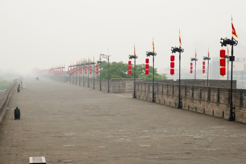 Стена города - Xian - Китай стоковые изображения rf
