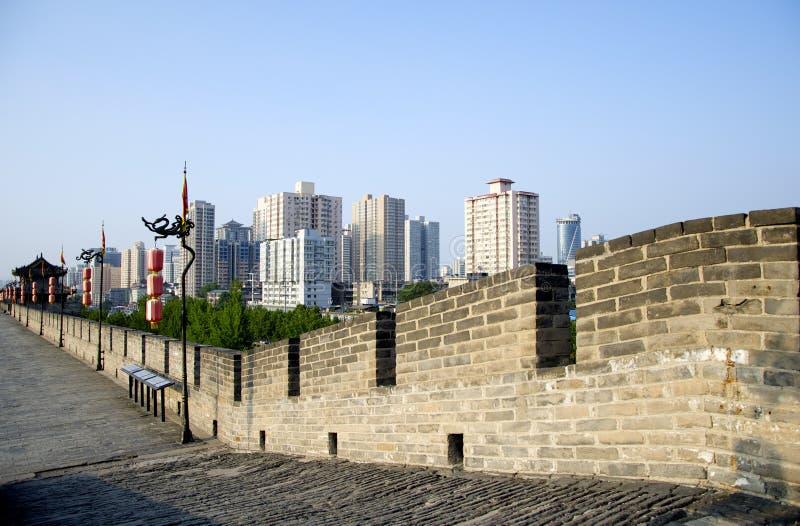 Стена города Xian стоковые фото