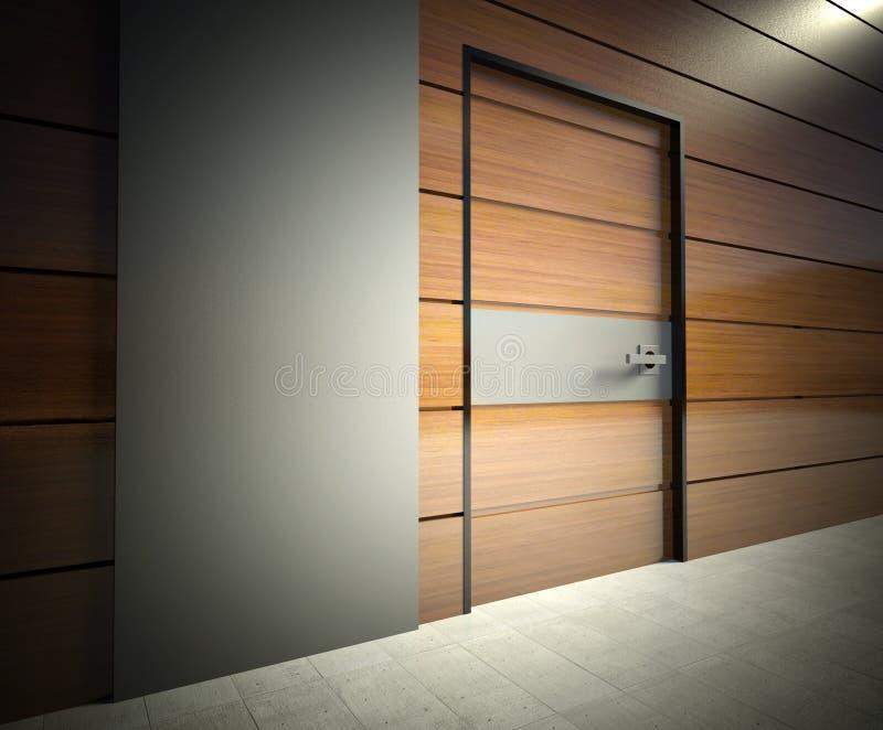 стена двери 3d нутряная самомоднейшая бесплатная иллюстрация