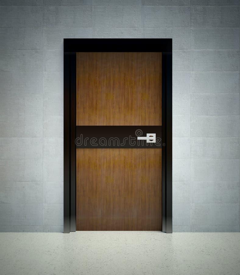 стена двери 3d нутряная самомоднейшая иллюстрация штока