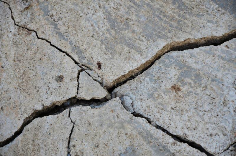 Стена здания землетрясения стоковые фотографии rf