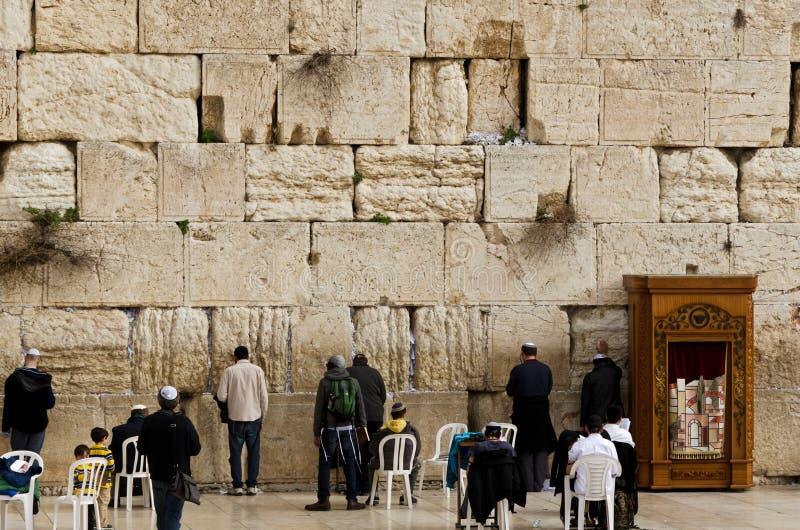 стена Иерусалима западная стоковое изображение rf