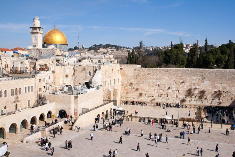 стена Израиля голося стоковая фотография rf