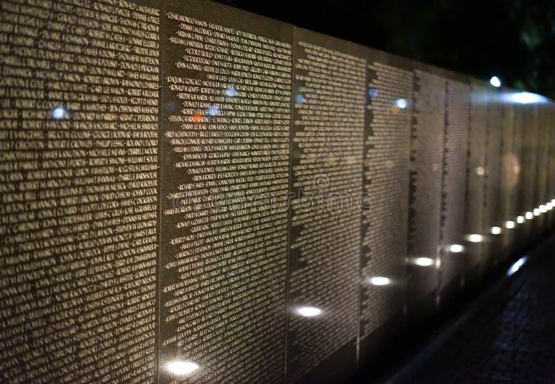 Стена имен и памятей стоковое фото rf