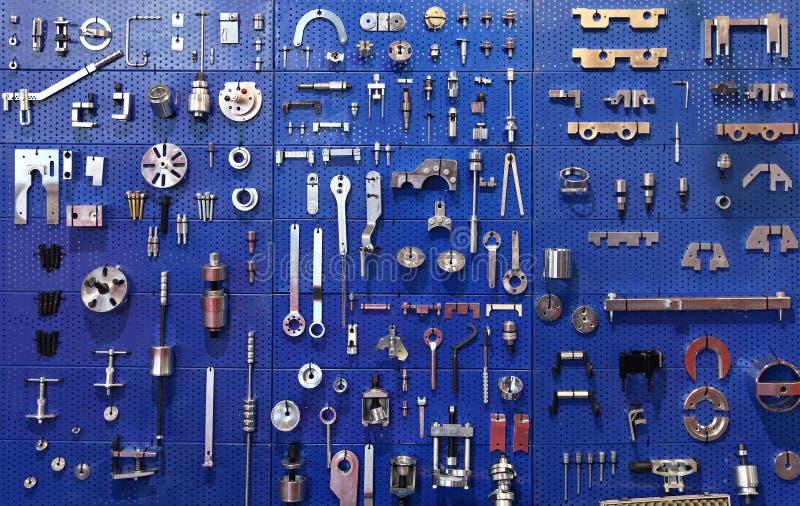 Стена инструментов стоковое изображение