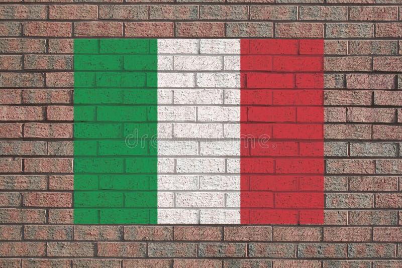 стена итальянки флага кирпича иллюстрация штока