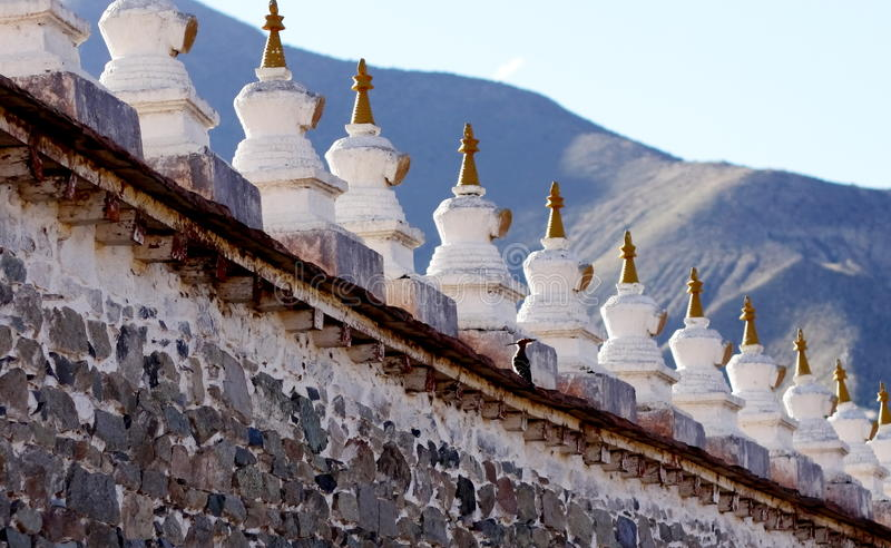 стена и hickwall stupa стоковые фото