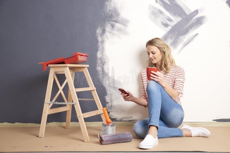 Стена картины дома стоковые изображения rf