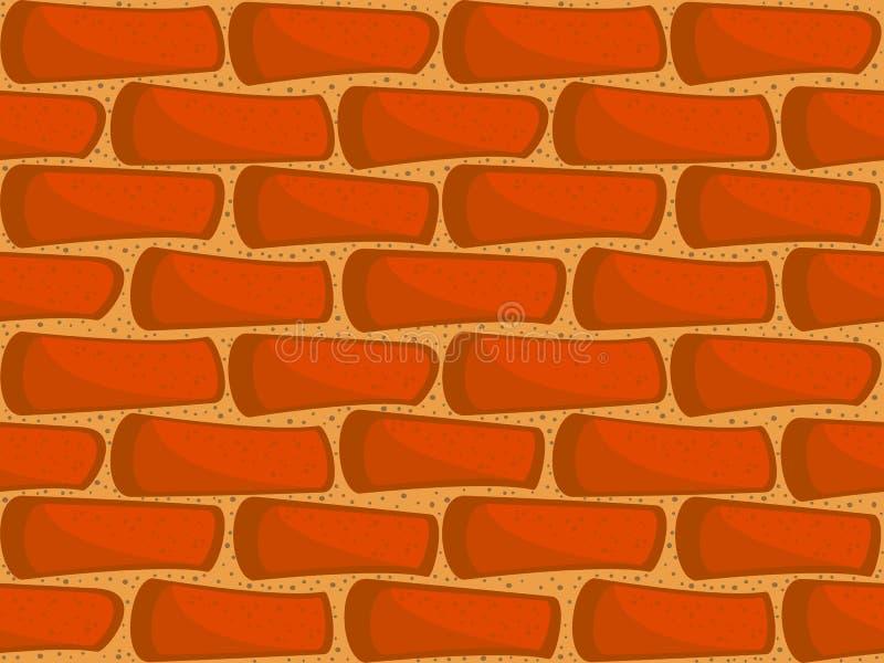 стена кирпича безшовная иллюстрация штока