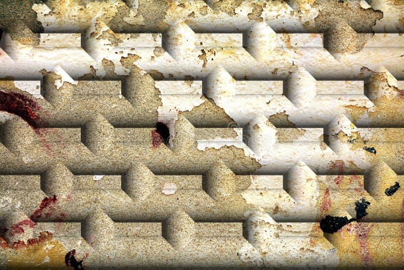 Стена, кирпич, граффити, отказы дальше на стенах, графиках стоковое изображение