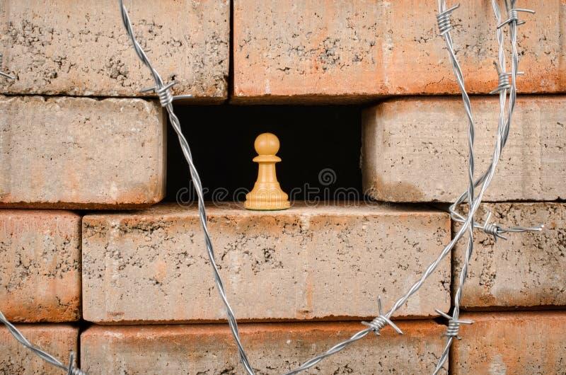 Стена, концепция иммиграции стоковая фотография