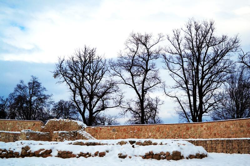 Стена крепости Rasnov стоковые фотографии rf