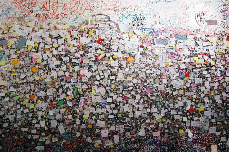 Стена любовников в Верона стоковая фотография