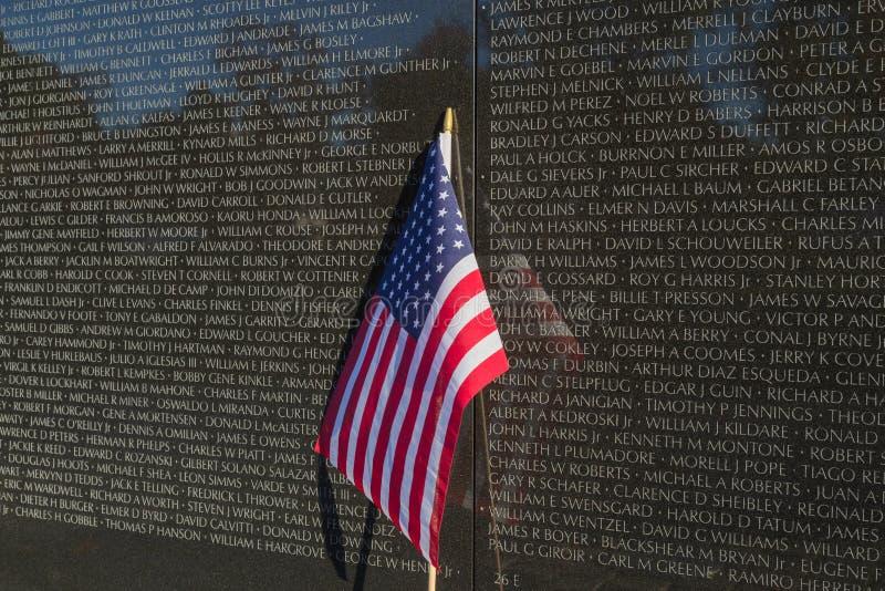 Стена мемориала ветеранов Вьетнама стоковое изображение rf