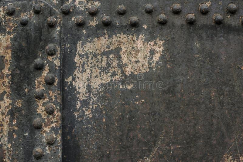 Стена металла с заклепками стоковые изображения rf