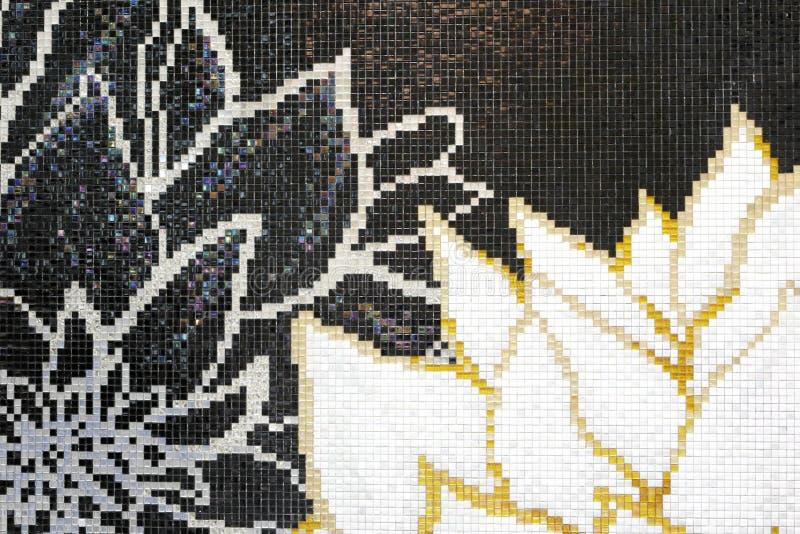 Стена мозаики картины лепестка стоковая фотография rf