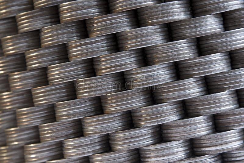стена монеток стоковое изображение