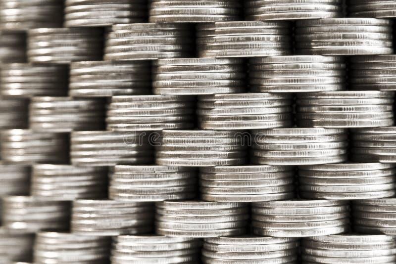 стена монеток стоковые изображения