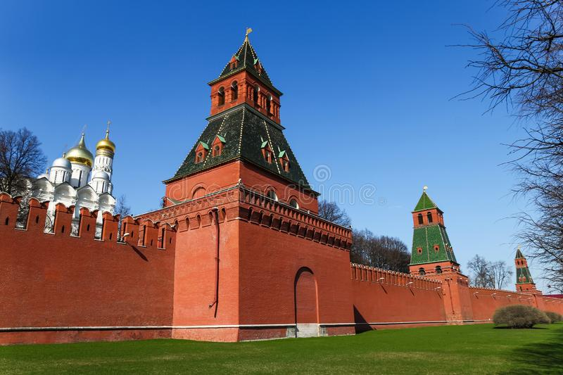 Стена Москвы Кремля стоковое фото