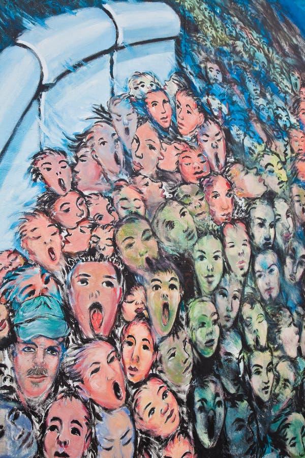 стена настенной росписи berlin стоковое изображение