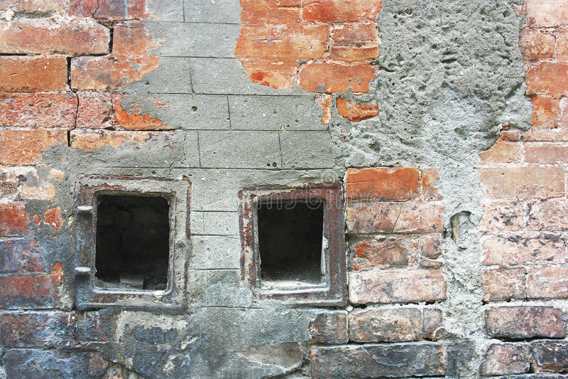 Download стена дома кирпича старая стоковое фото. изображение насчитывающей руина - 40576254