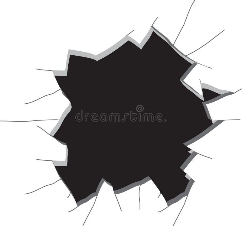 стена отверстия иллюстрация вектора