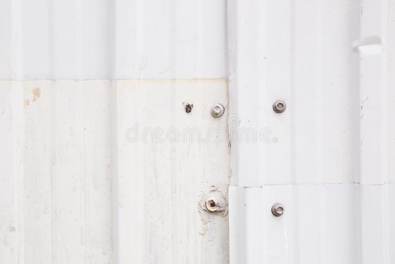 Стена панели белого металла стоковое фото