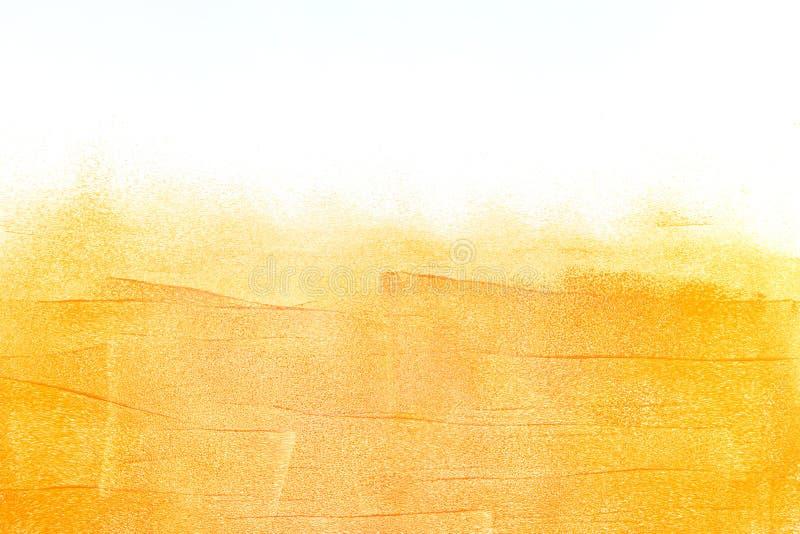 Стена покрашенная апельсином с предпосылкой brushstroke стоковая фотография rf
