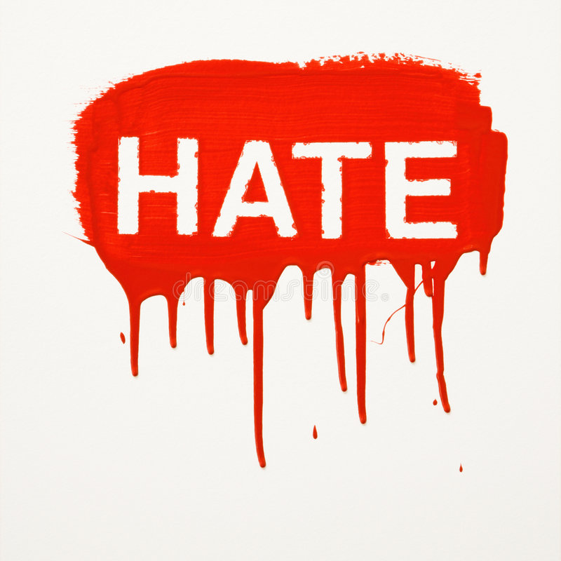 стена покрашенная ненавистью стоковые фотографии rf