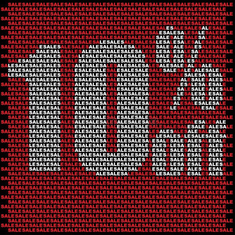 Стена продажи сделанная из небольших красных продаж иллюстрация штока