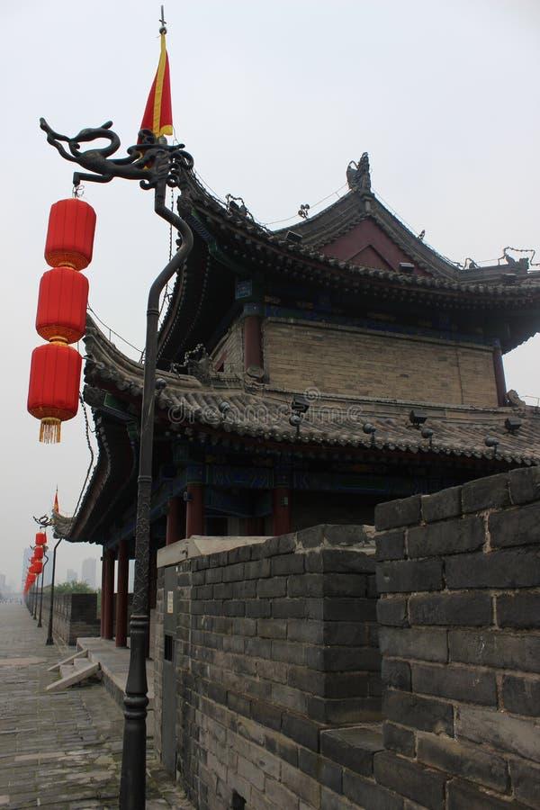 Стена древнего города фарфора xian стоковая фотография