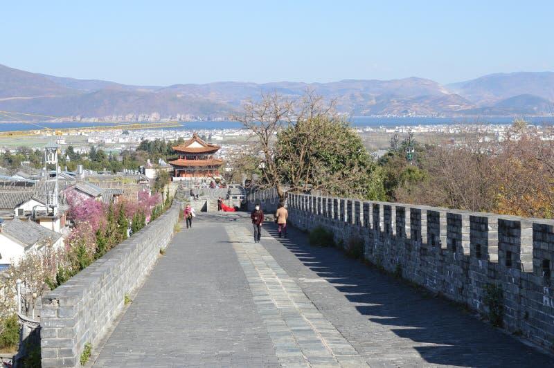 Стена древнего города Dali стоковые фотографии rf