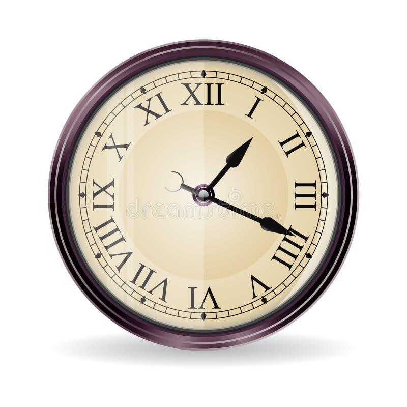 стена сбора винограда вектора часов стоковая фотография