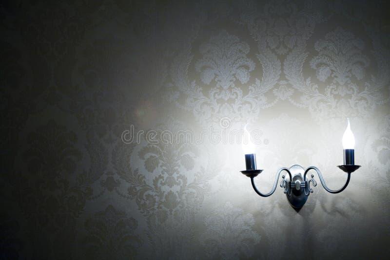 стена светильников стоковые фото