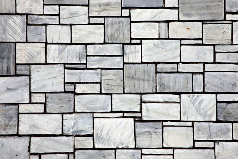 Стена серого шифера керамическая кроет предпосылку черепицей стоковое фото