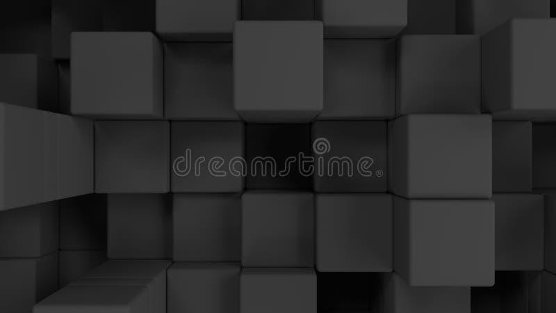 Стена серых кубов иллюстрация вектора