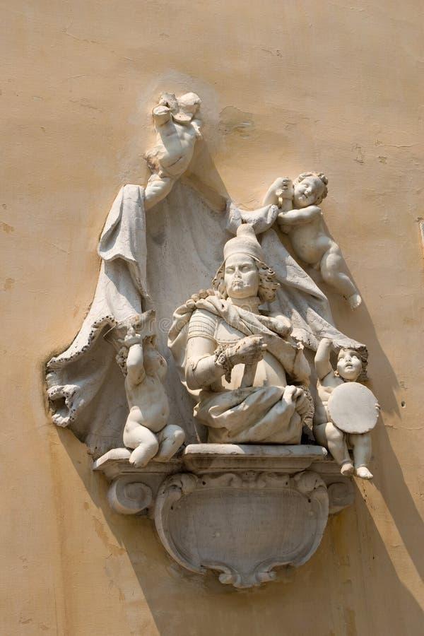 стена скульптуры стоковое изображение