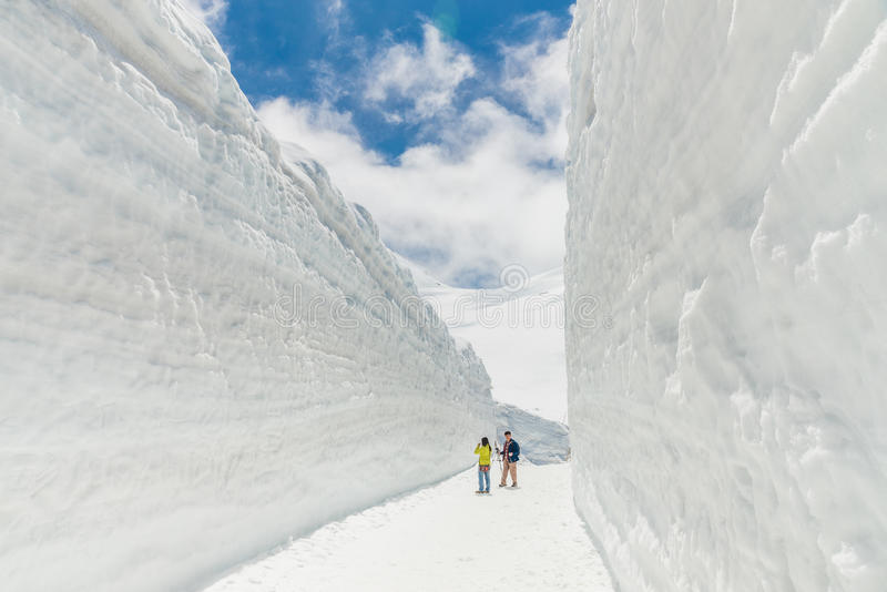 Стена снега в Японии стоковая фотография rf