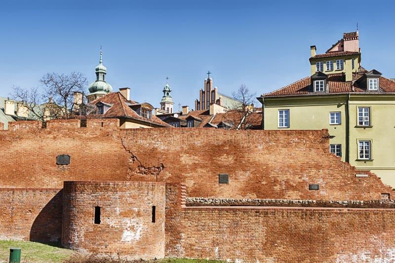 Стена старого городка Варшавы стоковая фотография rf