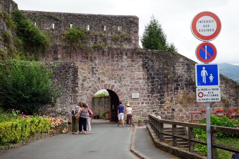 Стена старого городка стоковые изображения rf